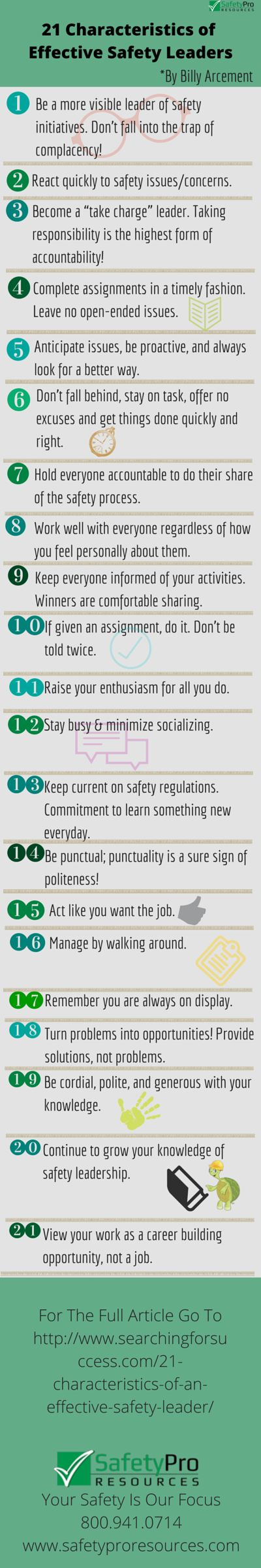 21 Characteristics of Effective Safety Leaders [Infographic]