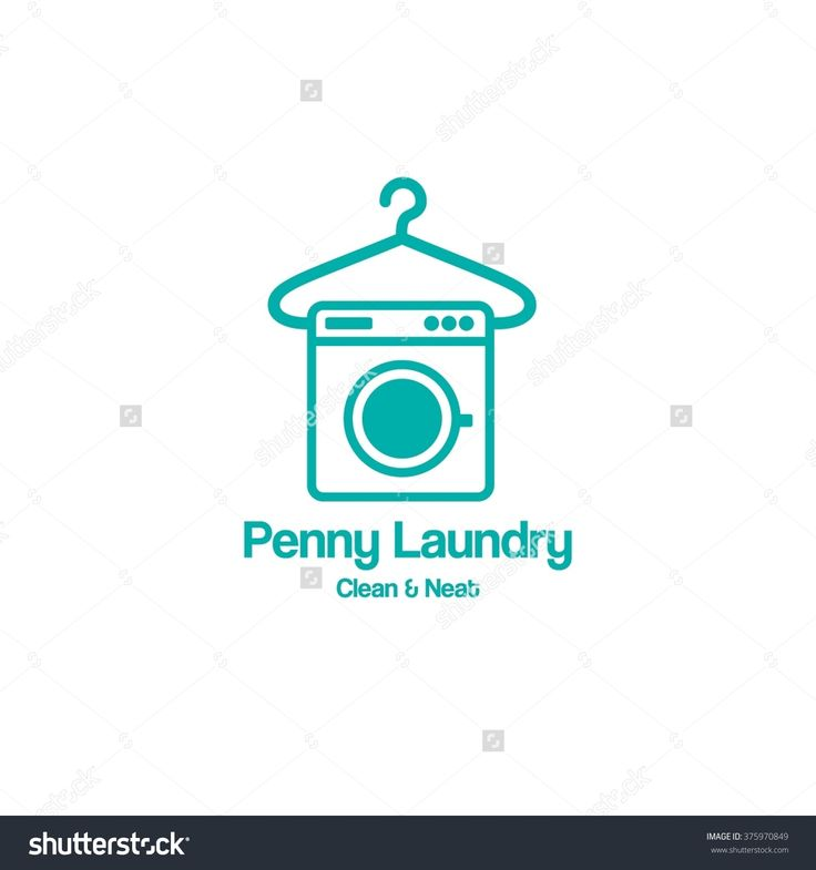 Laundry Label And Badge,Washing Machine, Laundry Washer, Good For Business  Logo.