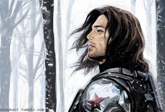 fan art by evankart on tumblr - Winter Soldier