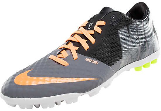 Nike FC247 Bomba Finale II Premium Turf Soccer Shoes - Cool Grey with Volt...Available at SoccerPro.