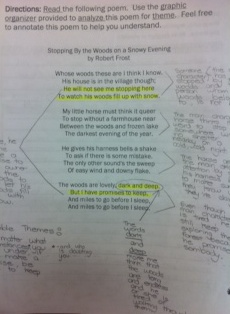 best rl images teaching ideas teaching students annotated and reflected on the poem stopping by the woods on a snowy evening by robert frost