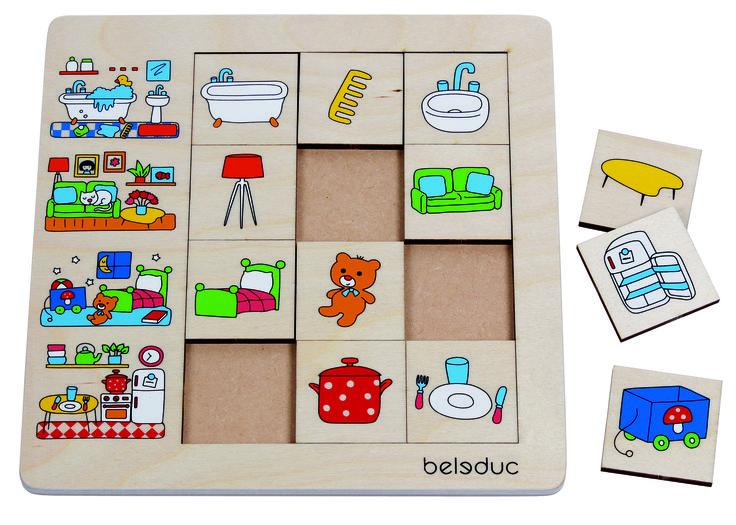"""PUZLE DE CLASIFICACIÓN """"NUESTRO HOGAR"""" ¿Pertenece el sofá a la cocina o a la sala de estar? ¿En qué parte de la vivienda encuentro una olla? Con Hogar"""" los niños aprenden objetos típicos y componentes de un piso o una casa #puzleinfantil #puzzleinfantil #encajeniños  http://www.babycaprichos.com/puzle-de-clasificacion-nuestro-hogar.html"""