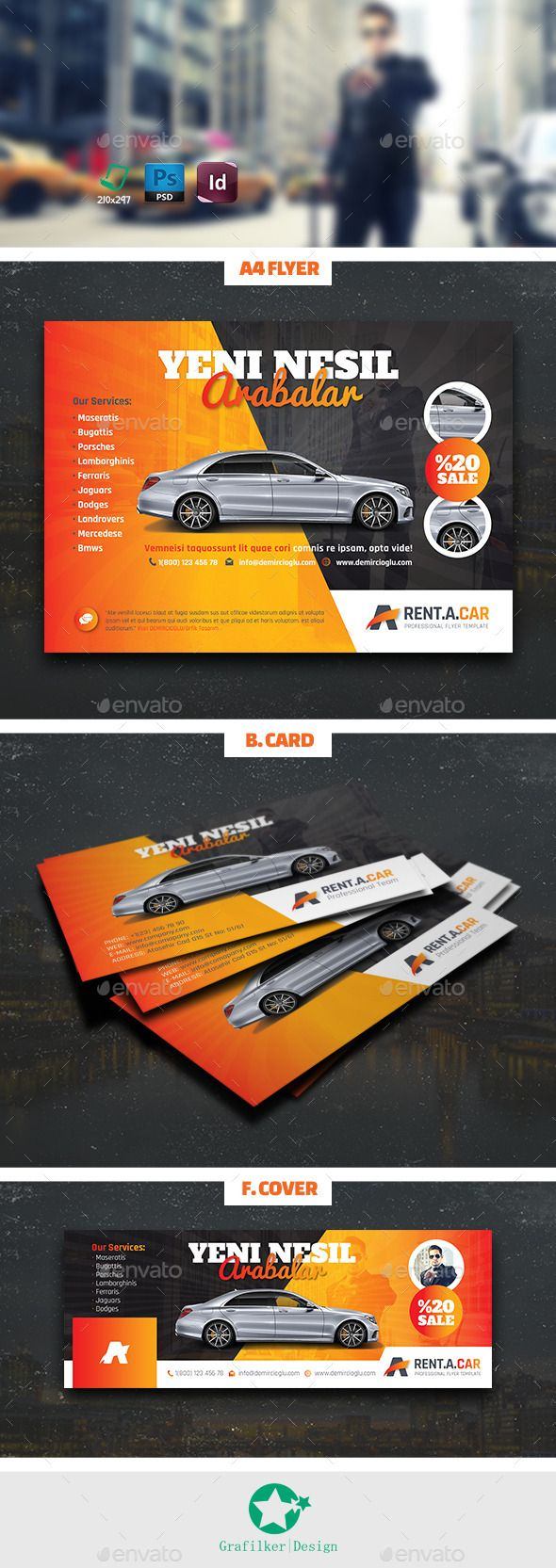 Rent A Car Bundle Templates  — PSD Template #297x210 • Download ➝ https://graphicriver.net/item/rent-a-car-bundle-templates/12520078?ref=pxcr