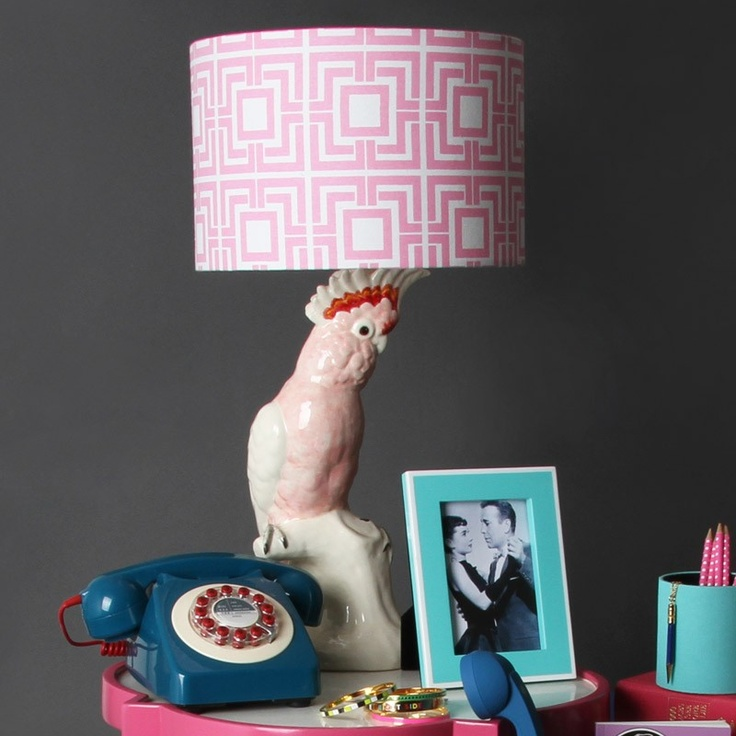 vintage cockatoo lamp