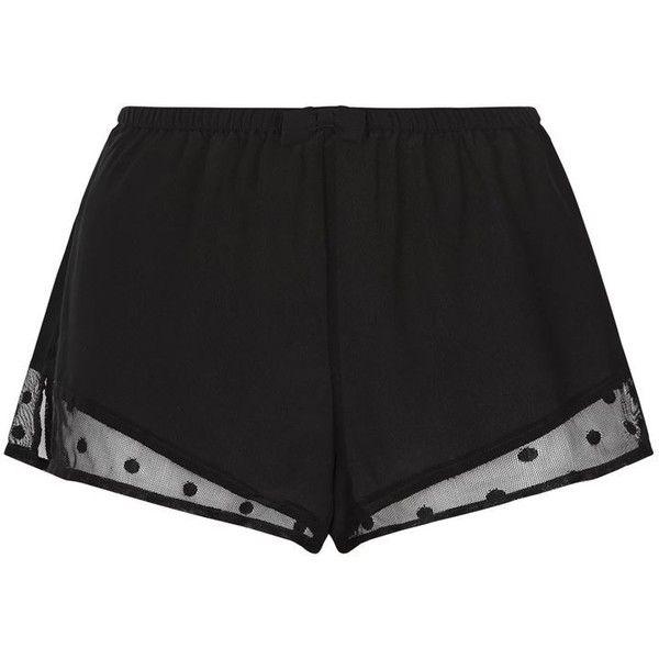 Princesse Tam Tam Doris Silk Pyjama Shorts ($75) ❤ liked on Polyvore featuring intimates, sleepwear and pajamas