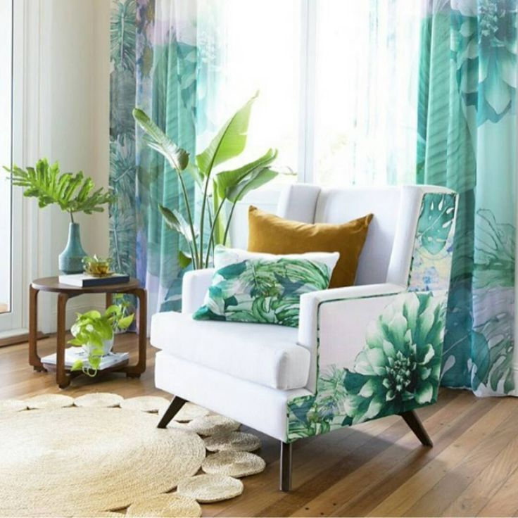 Lush, green botanical interiors by @esthetica360 featuring our topaz velvet cushion styled (and photographed) to excite by @villastyling.  #goldcoastbulletin #interiors #interiordesign #villa #botanical  #print #inspiration #stylist #style #stylish #colourful #living #chair #cushion #velvet #inspiration #everything #tropical