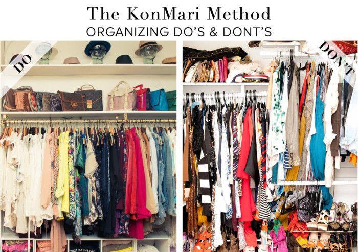 In a nutshell the kon mari method do 39 s dont 39 s the - Methode de rangement konmari ...