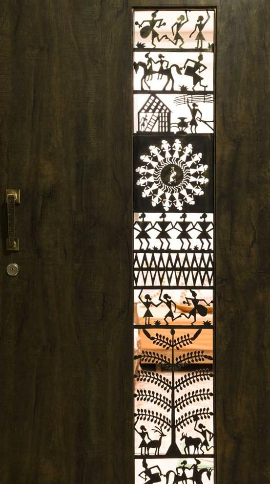 9 best laser cut main door grills images on pinterest for Entrance door design for flats