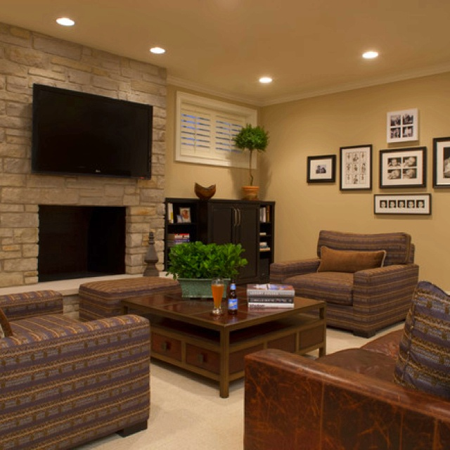 shaker beige by ben moore seeley media room contemporary family room chicago michael abrams limited - Shaker Living Room Ideas