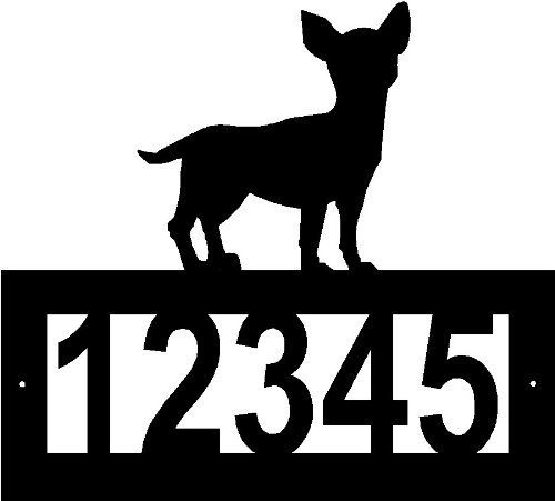Custom Crafted CHIHUAHUA Steel Address Sign by Designs of Steel. $29.99. FREE SHIPPING in the US. This beautiful custom steel address sign is extremely sturdy. The high quality makes for a nice addition to your home or a great gift! We will contact you for your customization after your purchase. Remember there are 5 number spaces available for customization.