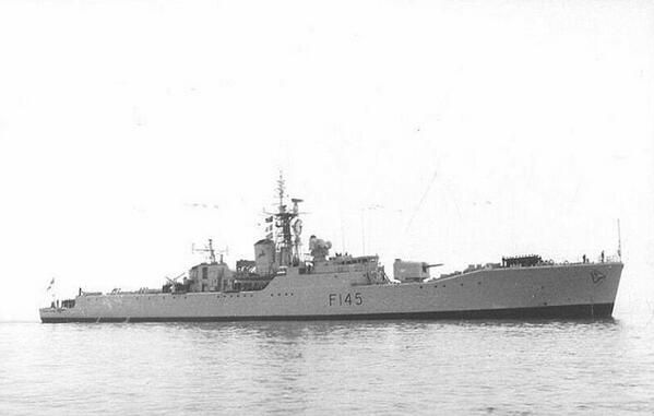 SAS President Pretorius (F145) South African Navy President-class (RN Rothesay-class) frigate
