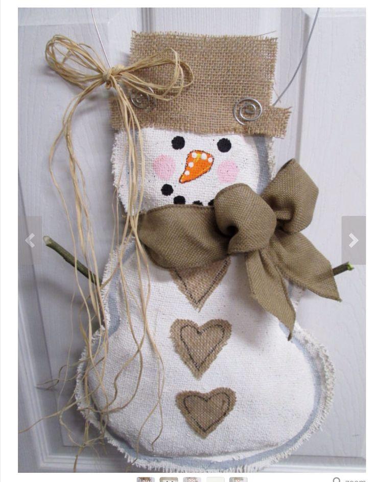 Snowman Mason Jar Door Hanger
