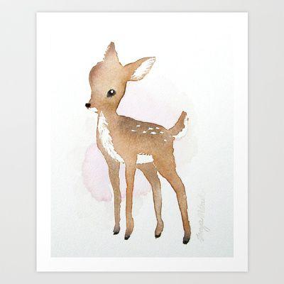Fawn  Art Print by Tanya Petruk - $17.68