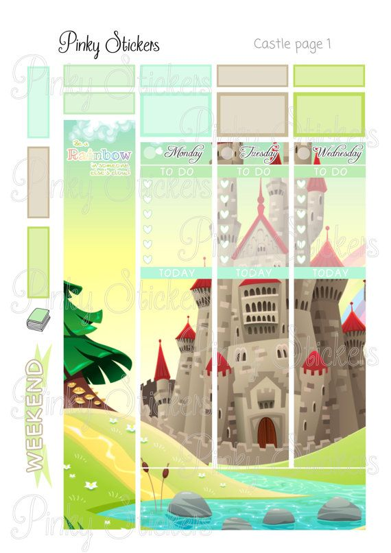 This is a weekly picture kit for Erin Condren Life Planner or other planners that have boxes that are 1.5 inches wide. It is a digital file meaning that you can download it and no physical product will be shipped to you. All my printable stickers include blackout files for easy tracing