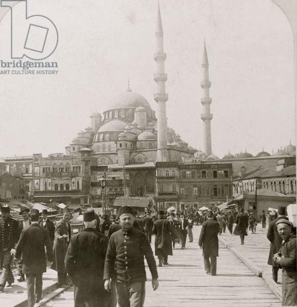 The New Mosque of Yeni Valideh, near the Outer Bridge, Constantinople 1914