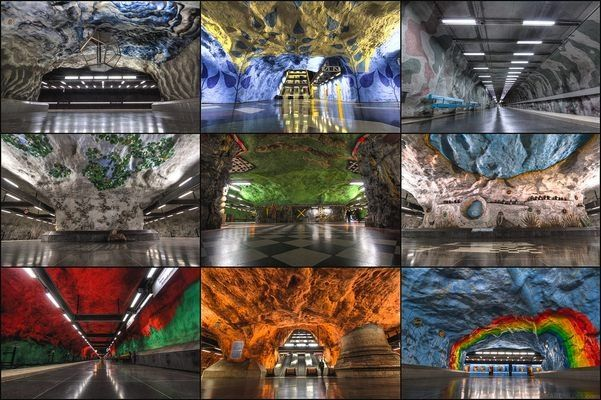 Stockholm Metro Art Gallery | Atlas Obscura