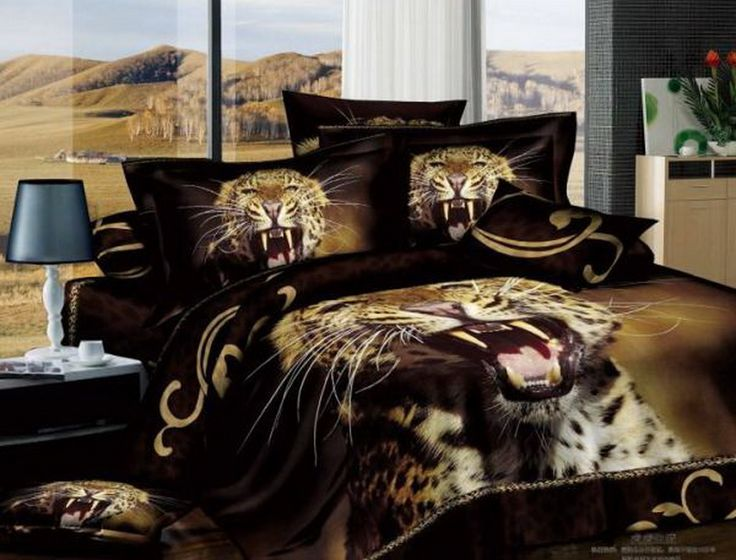 bed animal print quilt cover sea duvet item set lion beach comforter bedspread linen bedding sheet