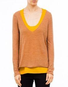 Jersey dos piezas bicolor - Amarillo TWIN-SET --- Outlet