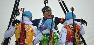 La Norvège a remporté le relais mixte de biathlon. Ole Einar Bjoerndalen devient le sportif le plus médaillé des Jeux olympiques d'hiver (13 médailles).