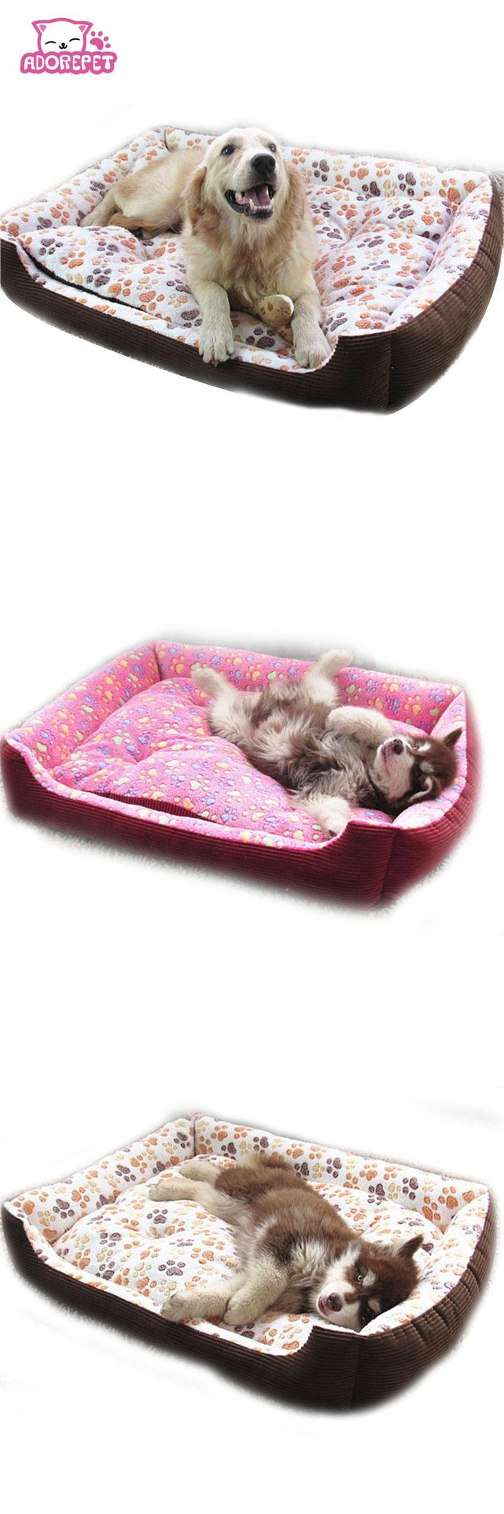 [Visit to Buy] Small big large dog sofa bed House Kennel winter warm fleece Pet Dog Cat Bed nest mat cushion golden retriever pitbull dog bed #Advertisement