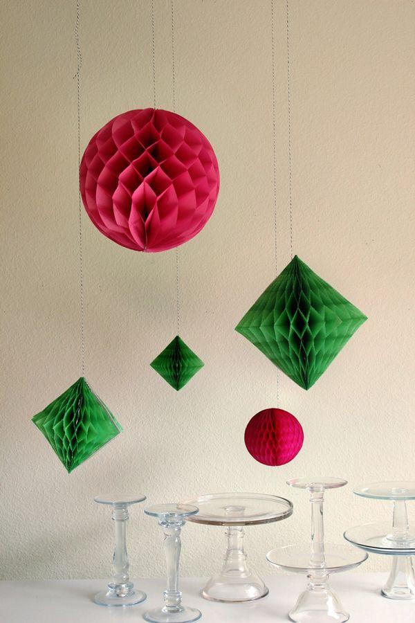 DIY Geometric Honeycomb Decor