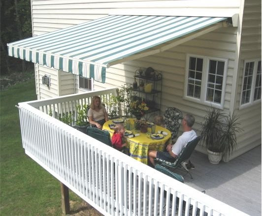 how to build an awning over a deck