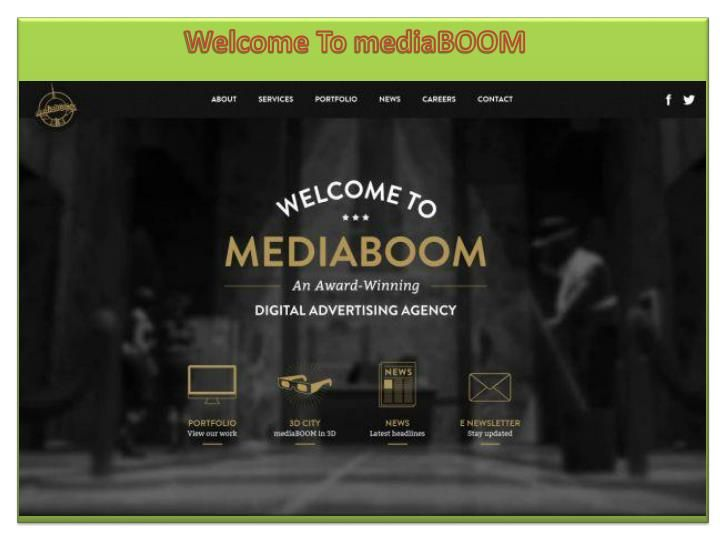 Digital Marketing Agencies In Hartford - Mediaboom is one of the top digital marketing agency. Founded in 2002, Mediaboom has grown to become the innovative source for businesses interested in achieving the best responsive design. Both the Mediaboom creative team and the web developers are working hand-in-hand to reap the benefits of Google's new Resizer tool.\n\nWith the help of this tool, Mediaboom designers and developers are able to effectively test client websites. As the mobile…