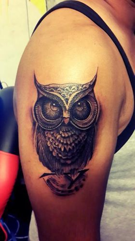 owl tattoo by Raghu