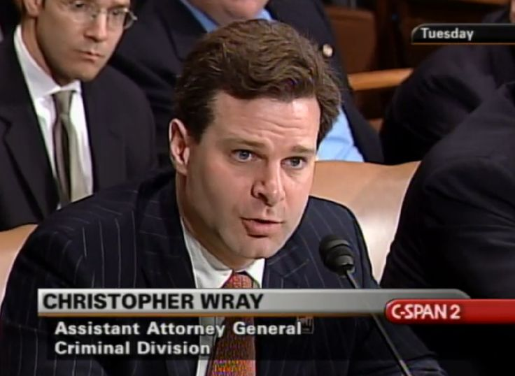 But will the Senate ask about any of this in Wednesday's confirmation hearing? Should the FBI be led by a lawyer who spent most of his career defending white collar defendants, including a major Swiss bank accused of laundering money for terrorists?