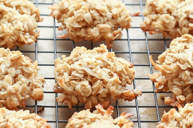 Masticable de coco Galletas de harina de avena receta por Barefeet en la cocina