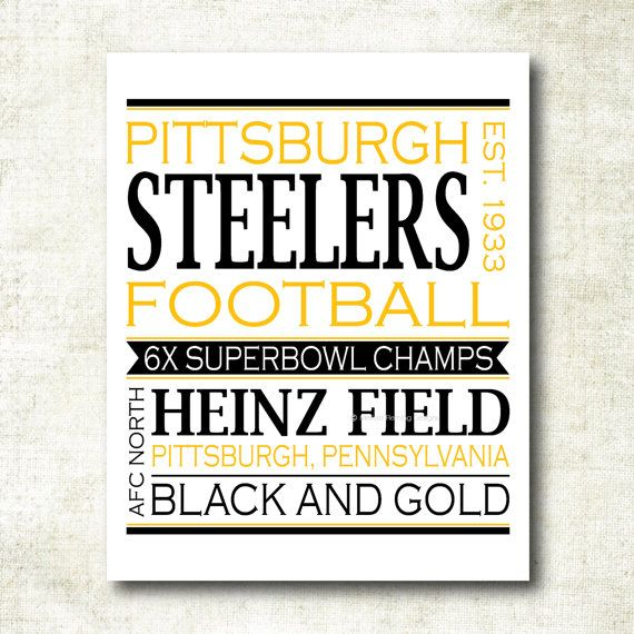 Pittsburgh Steelers Football Art Print by MelissaFlemingDesigns