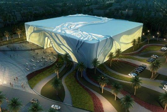 RAW NYC Architects, Aspire indoor soccer complex, architecture, Qatar architecture, green design, stadium design, indoor soccer stadium, leed certification, solar energy, solar skin, tree-inspired design, sustainable design,