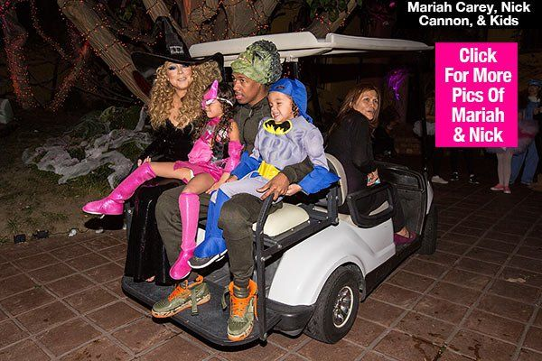 Mariah Carey & Nick Cannon Celebrate Halloween With Kids & Her New Boyfriend