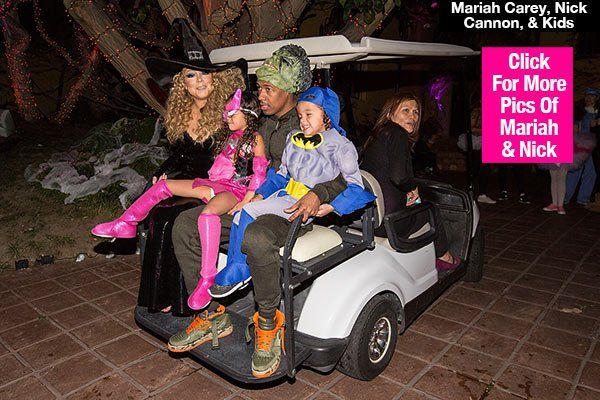 Mariah Carey & Nick Cannon Celebrate Halloween With Kids & Her New Boyfriend