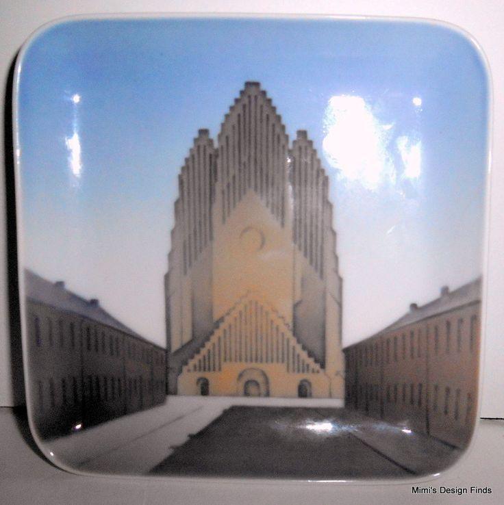 BING & GRONDAHL Denmark Grundvigs Kirken Trinket or Dip Dish 5x5  Porcelain EUC #BingGrondahl