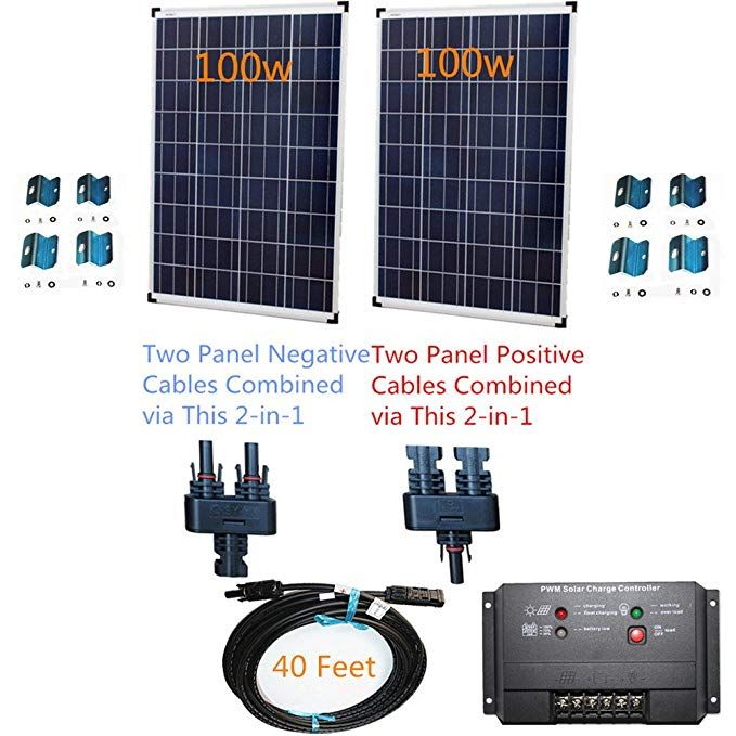 Powerfree Plug N Power 2 In 1 Space Flex 200w Two 100w Solar Panels Charging Kit For 12v Off Grid Battery Next Day Fro Solar Panels Solar Energy Panels Solar