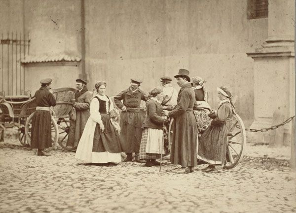 polish peasants, Warsaw 1866