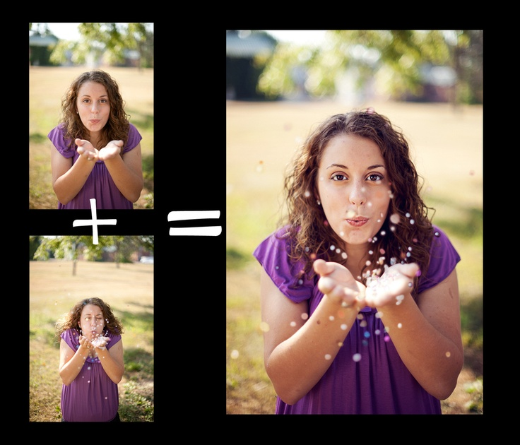 Fun with Photoshop!  Doing the Confetti photo pose in post-processing. Composite, glitter, editing. Senior Pictures - Girl