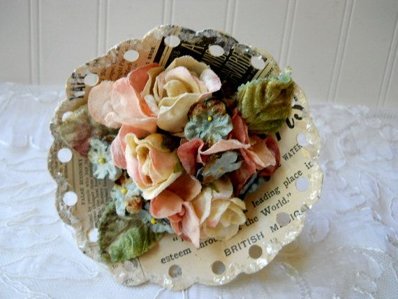 shabby romantic petite bouquet nosegay posy by