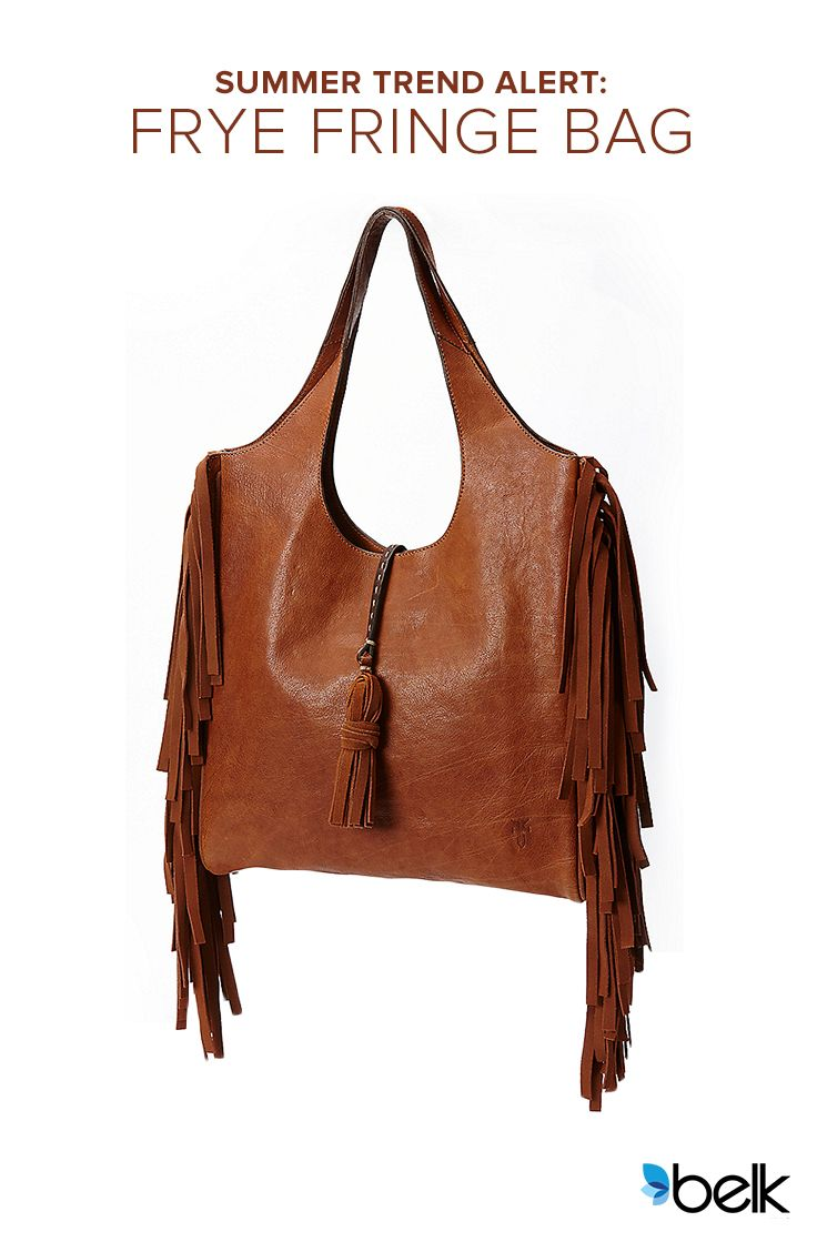 Hit the summer festival circuit – or just look like you're ready to – with some flirty, fringy boho flair. The Frye Farrah Fringe Hobo bag is as eye-catching as it is practical. Crafted with hand-burnished Italian leather and a cascade of suede fringe and matching tassel, it instantly adds a pop of personality to your look. Trendy, timeless and totally worth the investment! Shop now at Belk.com.