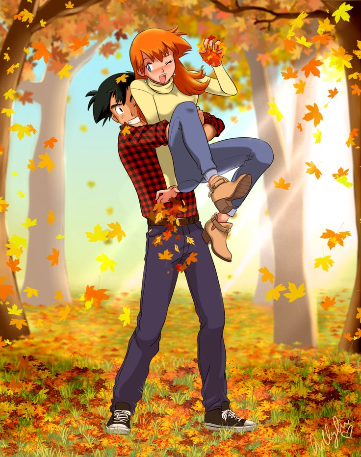 Older Ash and Misty as Boyfriend and Girlfriend