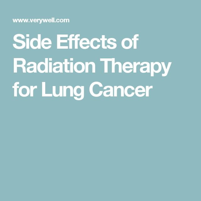 Side Effects of Radiation Therapy for Lung Cancer