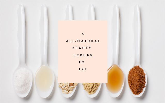 The Pinterest 100: Grooming & Beauty.  Clemetine Daily's 6 All-Natural Beauty Scrubs.