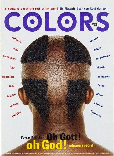 "cMag117 - Colors Magazine cover ""Religion Issue"" / Tibor Kalman / Nº 8 / September 1994"
