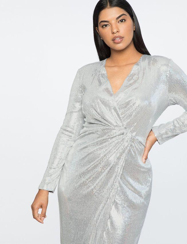 Jason Wu X ELOQUII Sequin Wrap Gown | Women\'s Plus Size ...