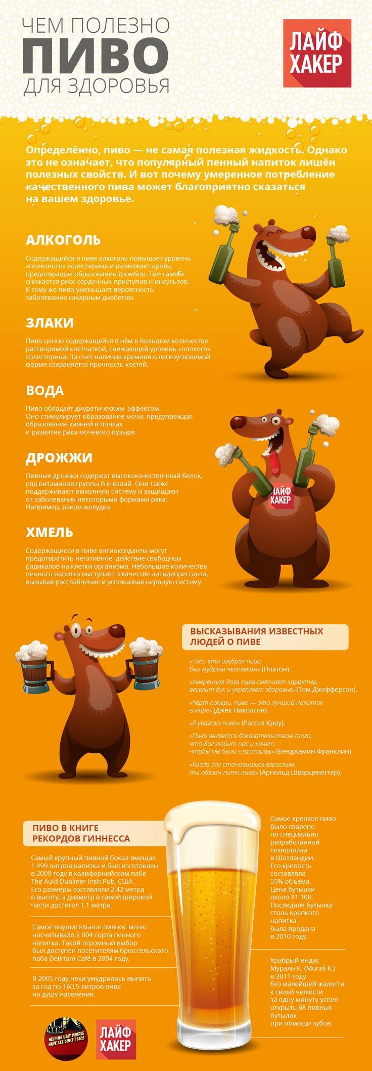 На протяжении своей длительной истории существования пиво считалось лечебным продуктом. А в наши дни модно нещадно критиковать любителей пригубить пивка. Зачастую по делу. Но винить в негативных последствиях пития пива стоит не сам напиток, а привычки людей. Ведь пиво вполне может быть полезным для вашего здоровья.