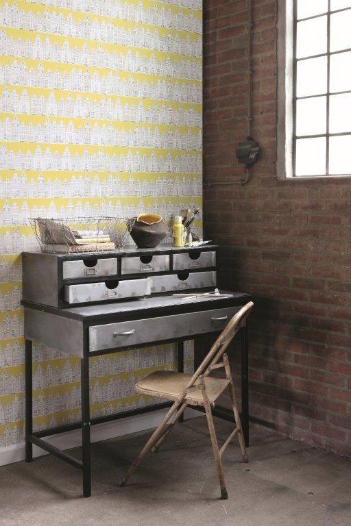 Collection: City Limits  Design: Cape Dutch Canary  http://www.hertex.co.za/wallpaper/city%20limits.html