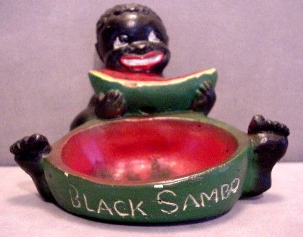 sambo ashtray | Hey... | Black, Vintage black, European ...