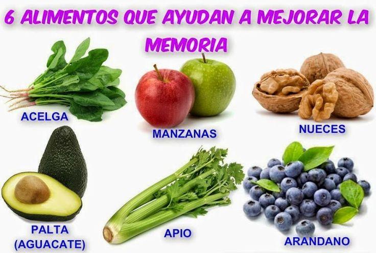 Alimentos que te ayudan a mejorar la memoria.  Conoce más tips de salud en...http://www.1001consejos.com/salud/