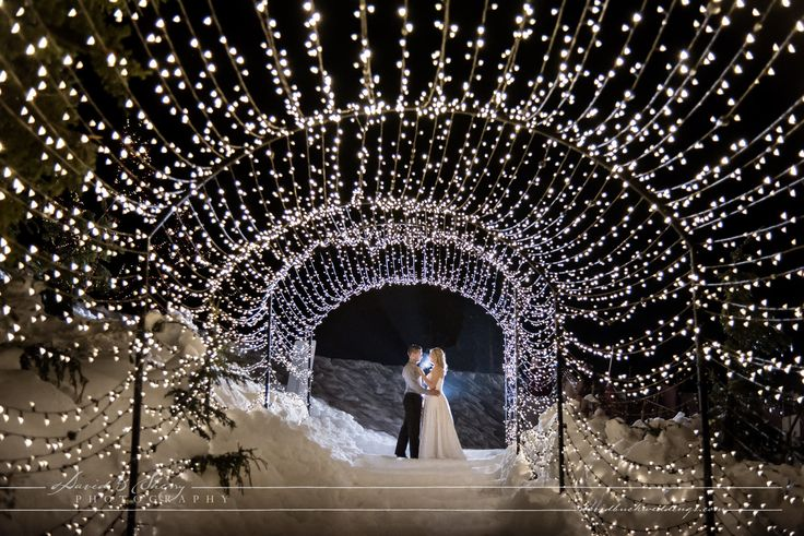 Winter wedding love on the Grouse Mountain Light Walk I North Vancouver, BC